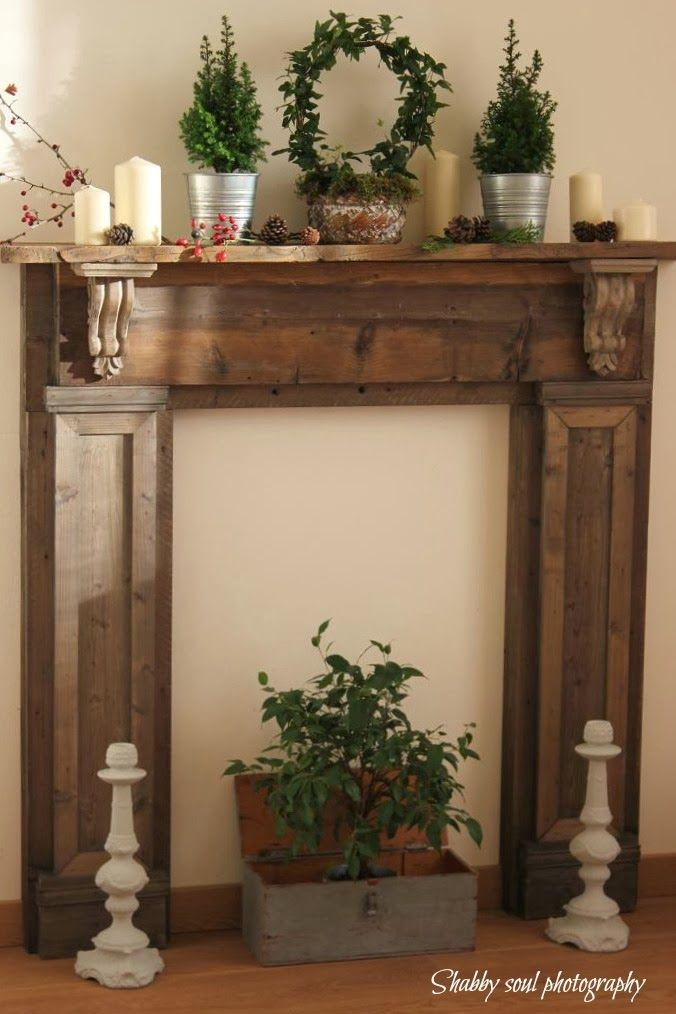 Shabby soul our faux fireplace and a question my next big project pinterest faux for Camino finto shabby