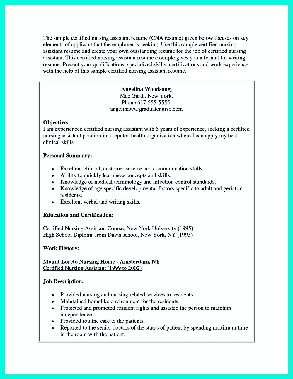 writing certified nursing assistant resume is simple if you follow these simple tips  some