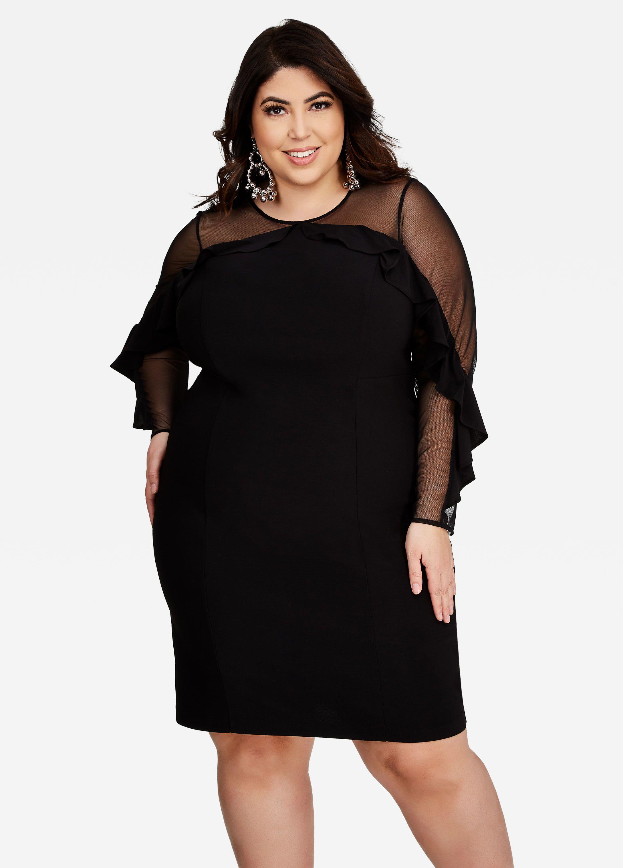Mesh Neck Ruffle Dress | Jessica Milagros | Dresses, Ruffle dress ...