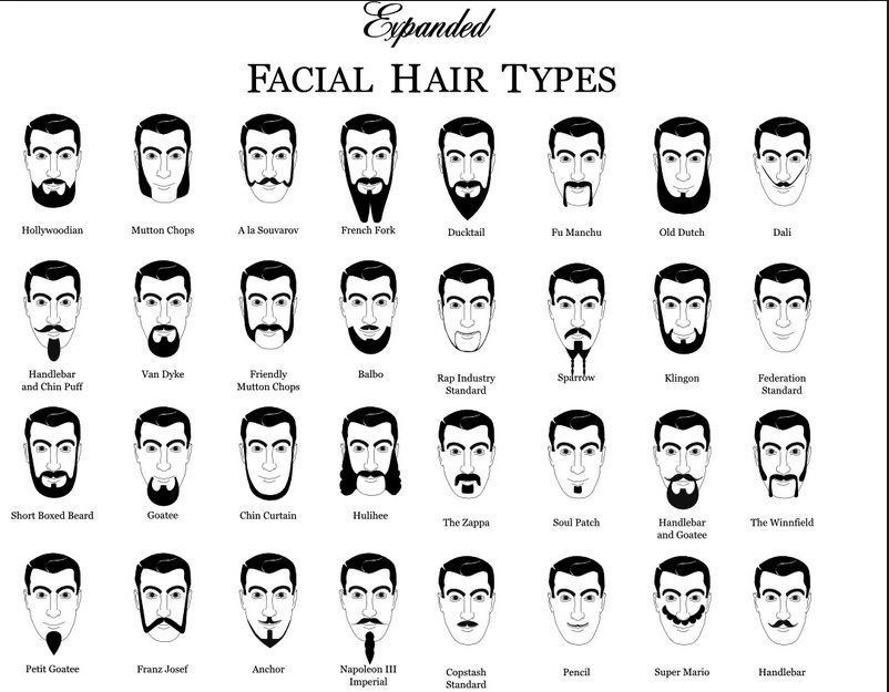 Expanded facial hair types | Style | Pinterest | Facial hair types