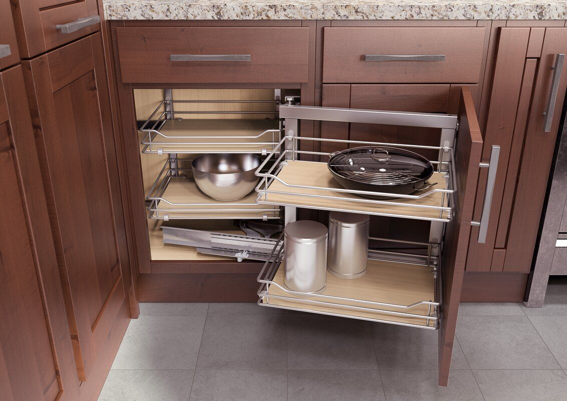 Vauth Sagel Blind Corner Vs Cor Fold For 33 Right Handed Pull Out Drawer Kitchen Remodel Kitchen Cabinet Storage Corner Kitchen Cabinet
