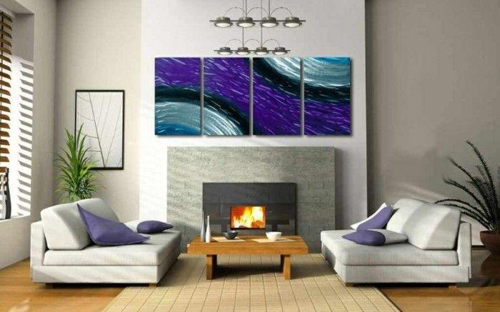 wunderschöne wand streichen ideen interessante wandgestaltung - ideen fur wohnzimmer streichen