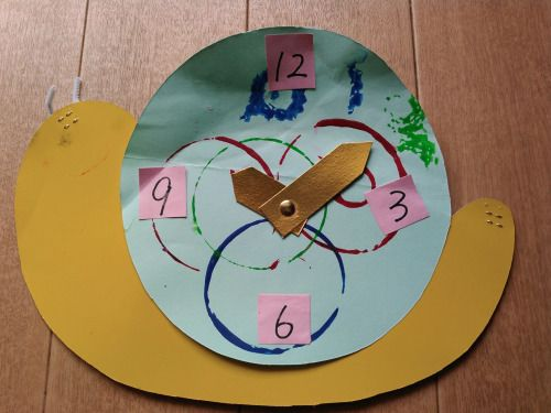 こんにちは。天候は、晴れ。昨日は時の記念日でした。時計の制作は恒例でしょうか。今日もよろしくお願いします。 #education #creation #kindergarten #time #watch #幼稚園 #制作 #時の記念日 #時計 #hi #你好 #안녕하세요 #Привет #sunny