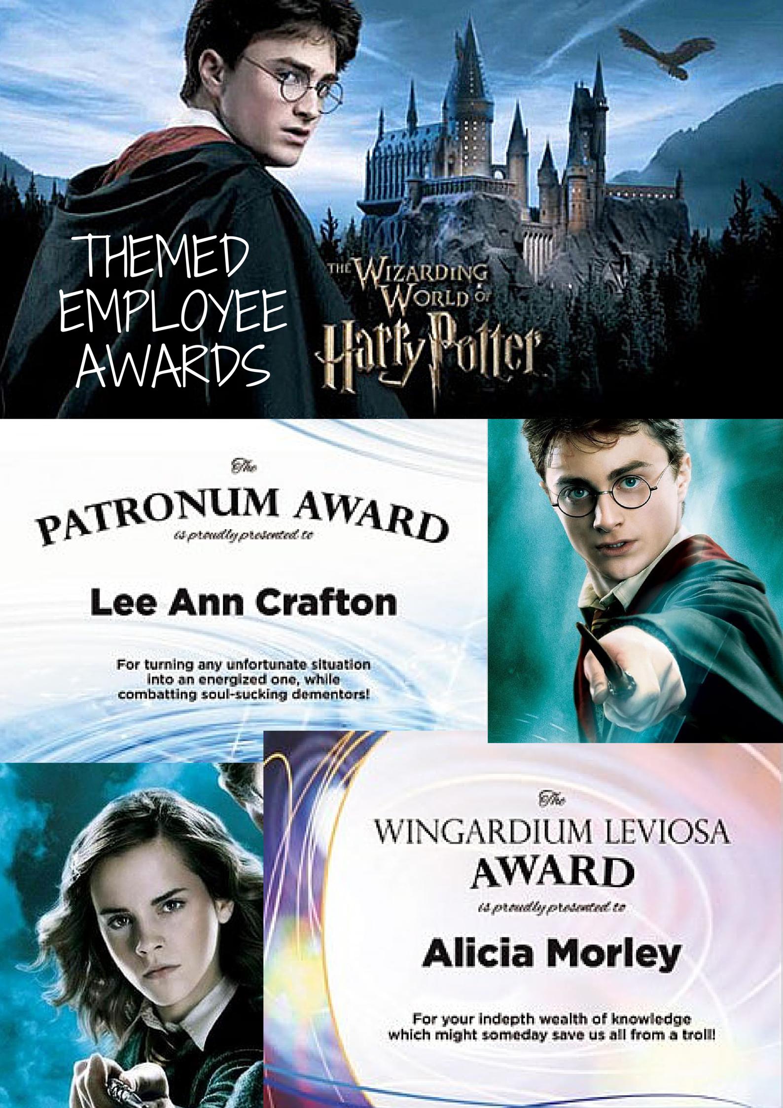 Office Award Ideas For Harry Potter Enthusiasts Employee Awards Employee Recognition Office Awards