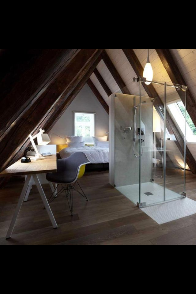 Attic suite Attic suite Pinterest Mansarde, Sous les toits et Loft