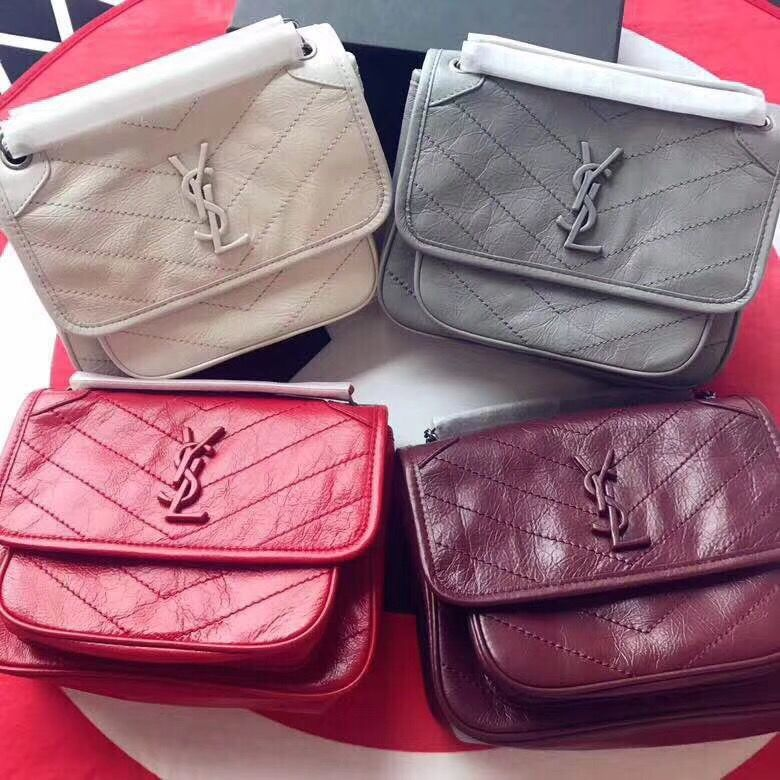Ysl Saint Laurent Niki Mini Size 22cm Original Leather
