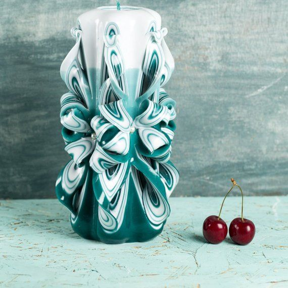 Cool Christmas presents, Ribbon Candy, Carved Candle, White Candle