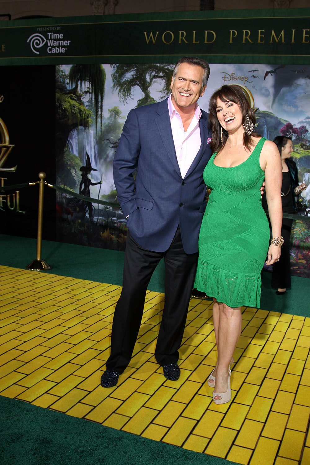Bruce Campbell and wife Ida Gearon at World Premiere of OZ THE GREAT AND POWERFUL   ©2013 Sue Schneider