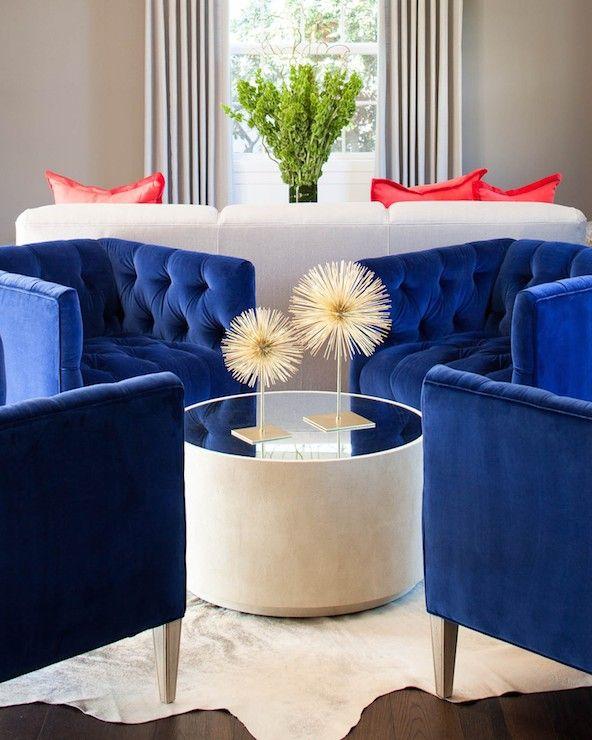Coffee Table Centerpiece Diy Idea Royal Blue Chairs Contemporary Living Room Martha O Blue Living Room Sets Blue Accent Chairs Blue Furniture Living Room