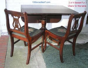 Excellent Antique Furniture Cherry Wood Harp Table1947 Duncan Fife Ncnpc Chair Design For Home Ncnpcorg