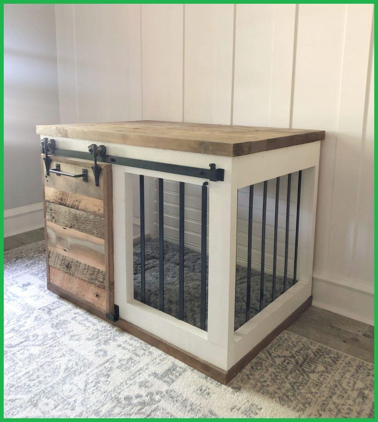 Diy barn door dog crate in 2020 diy dog crate diy dog