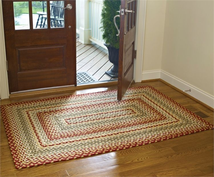 Mill Village Rectangle Braided Rug 48 X 72 Braided Rugs Country Rugs Rugs