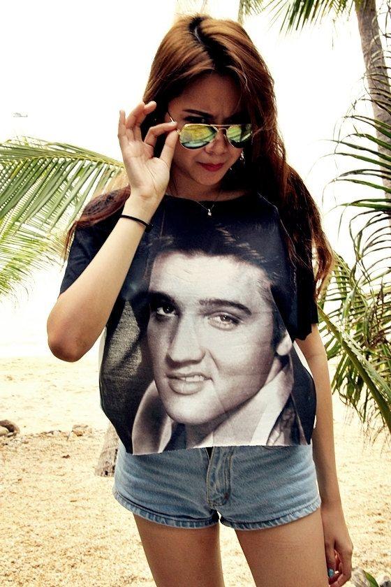 70d87add Elvis Presley Women Girl Shirt T-Shirt Chic Style Summer Fashion on Etsy,  $15.99