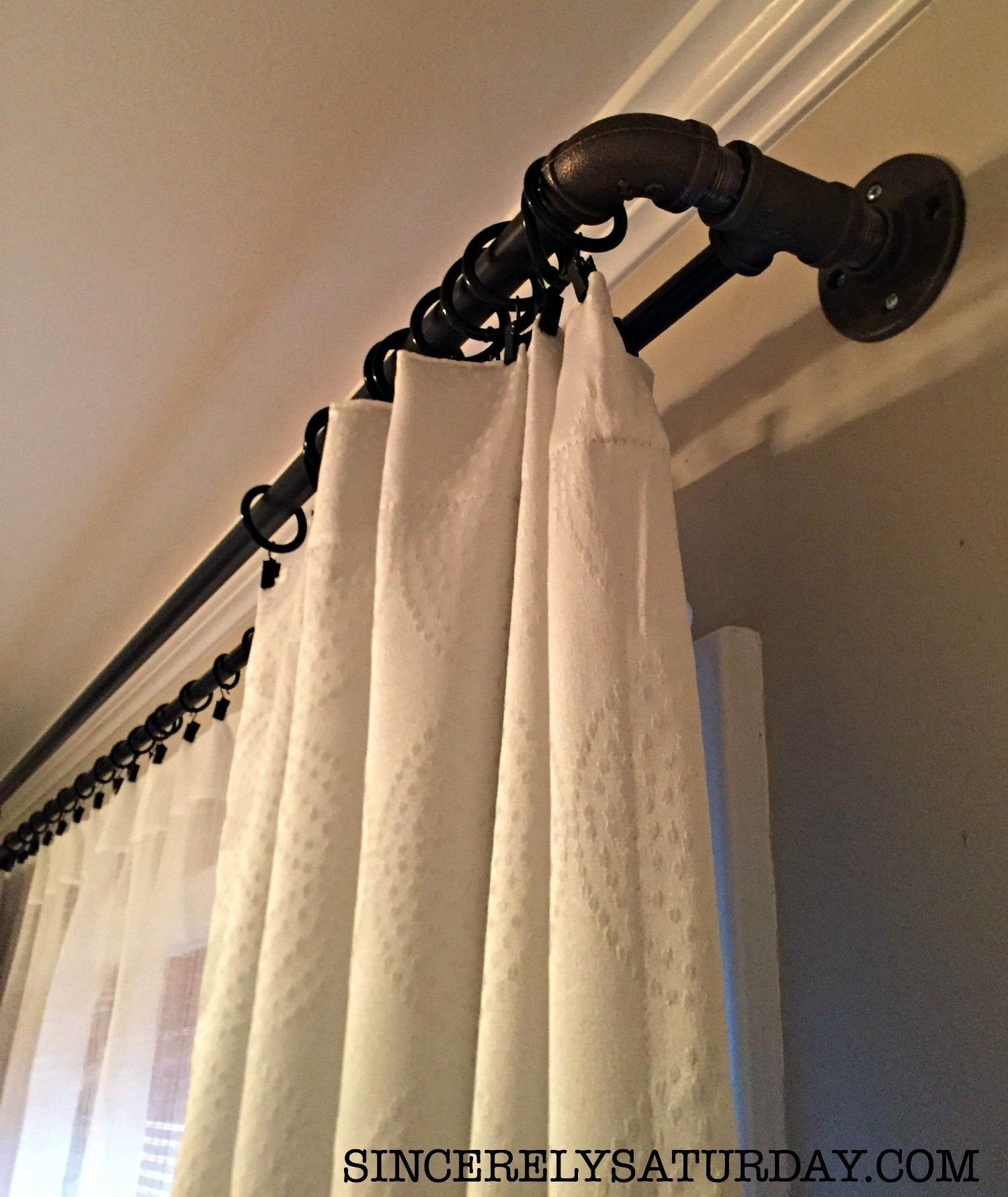 Best Diy Double Curtain Rod Ever 2 Years Later Diy Curtain
