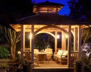 Outdoor Gazebo Lighting Magnificent 3 Outdoor Gazebo Lighting Ideas Decksgazebosporches And Yards Inspiration