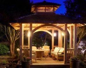 3 outdoor gazebo lighting ideas outdoor advice and information 3 outdoor gazebo lighting ideas mozeypictures Gallery