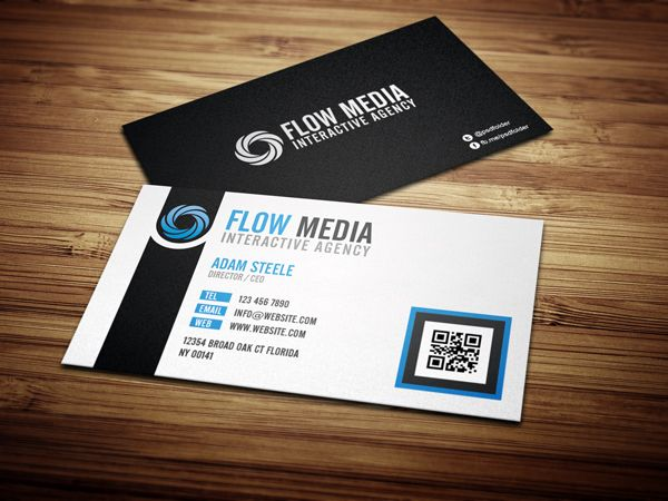Free PSD Flow Business Cards In Colors Free Business Cards - Free business card templates
