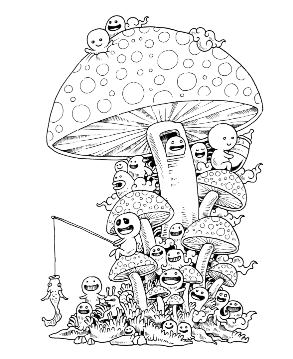Doodle Invasion Coloring Page