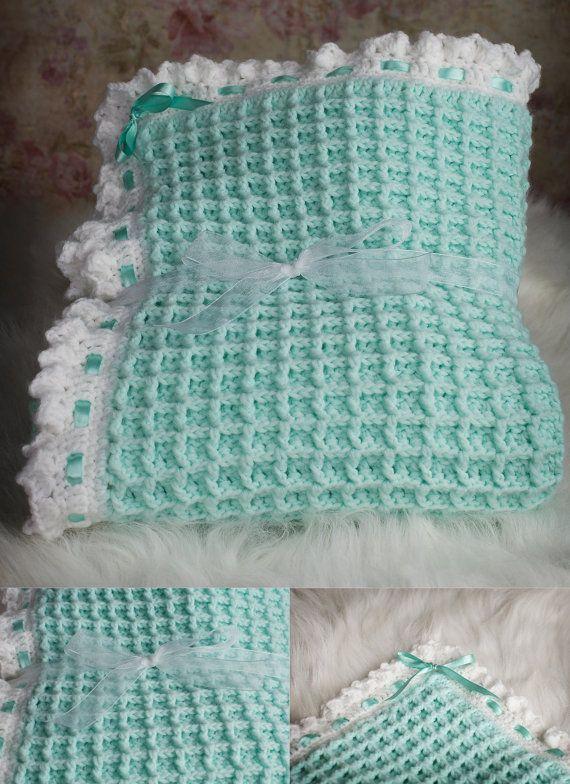 Crochet baby blanket pattern, Waffle stitch baby blanket ...