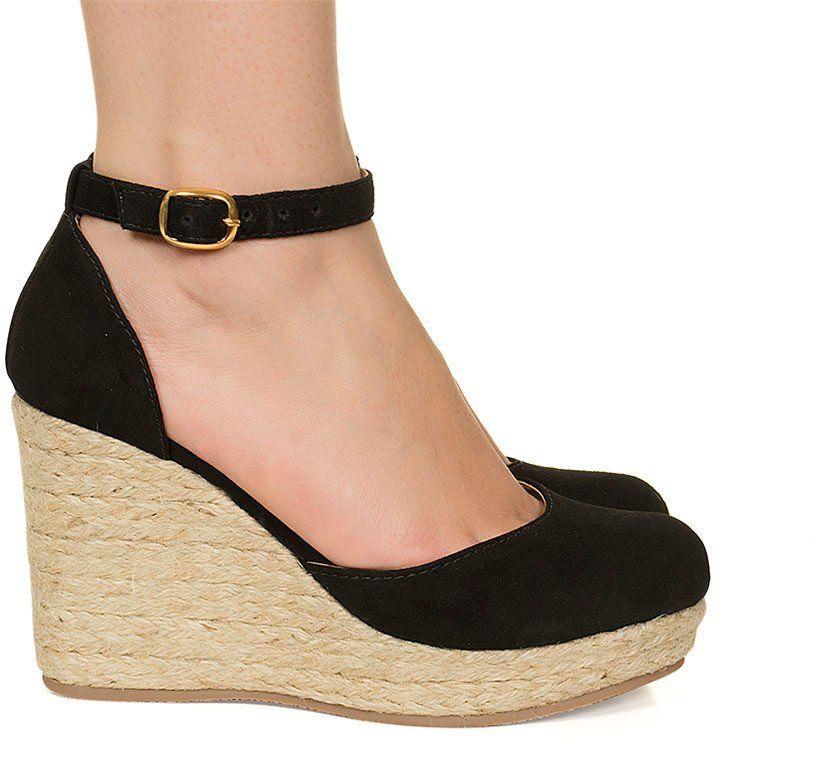 c8cf8cfc6e Sandália espadrille anabela preta salto corda Taquilla - Taquilla - Loja  online de sapatos femininos