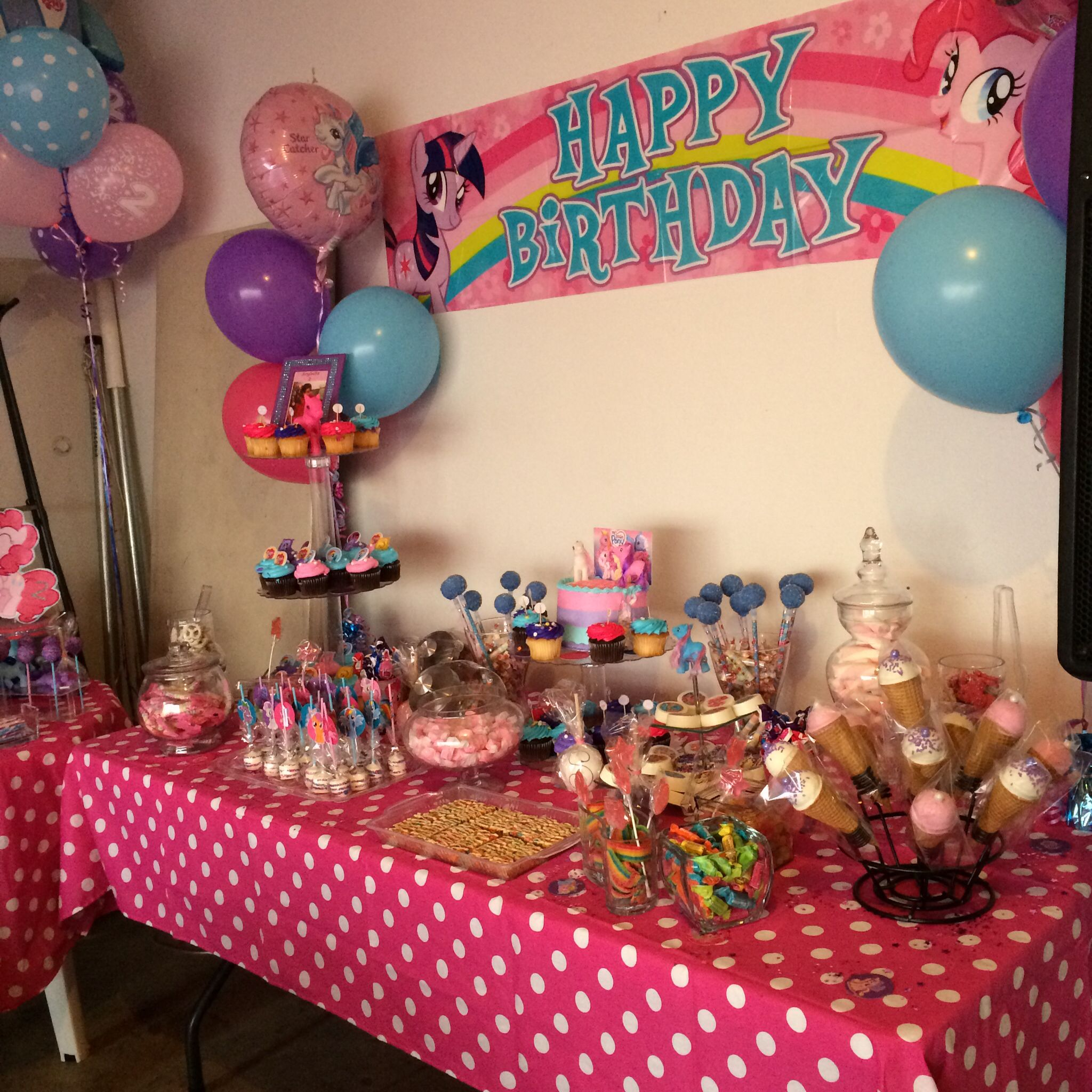 My little pony theme candy buffets i have done for 5th birthday decoration ideas