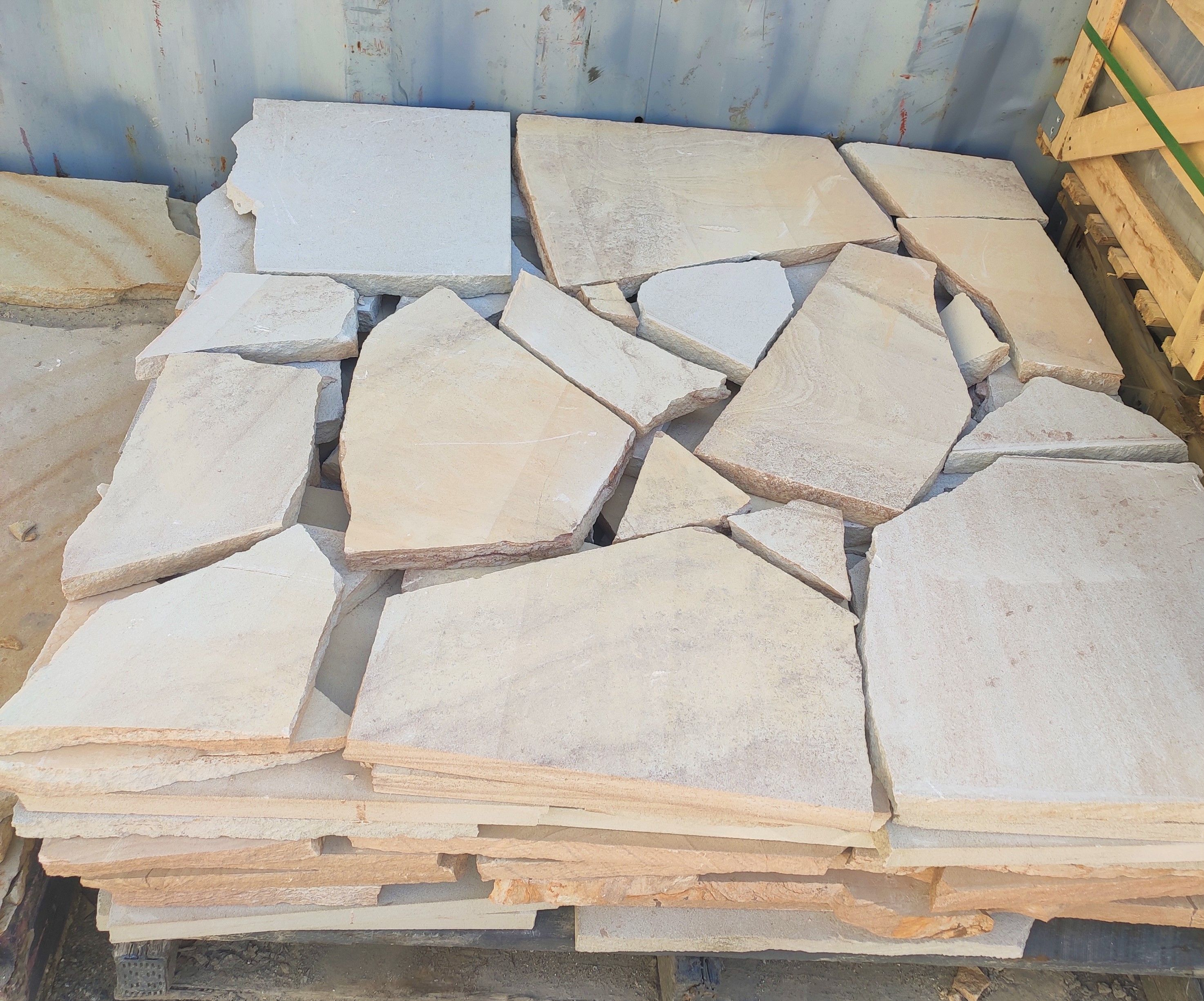 Sandstone Crazy Paving Crazy Paving Paving Stones Stone Tile Wall