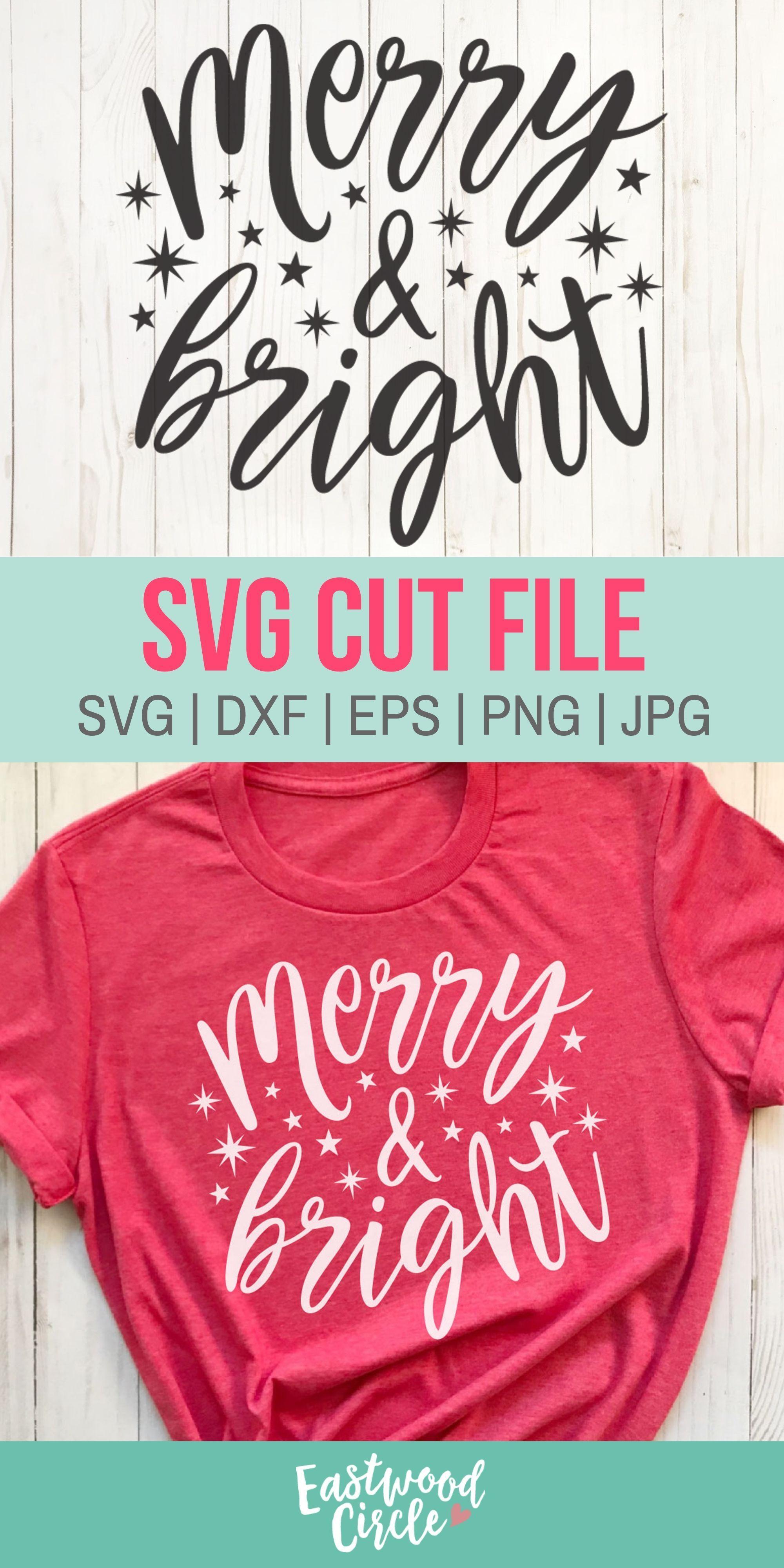 Merry and Bright svg, Christmas svg, Christmas Shirt svg