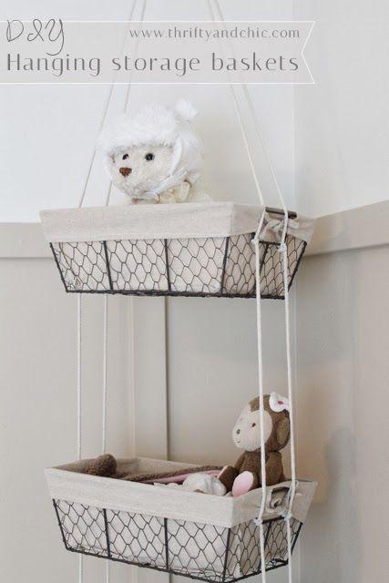 Diy Hanging Storage Baskets Home Goods Decor Diy Toy Storage