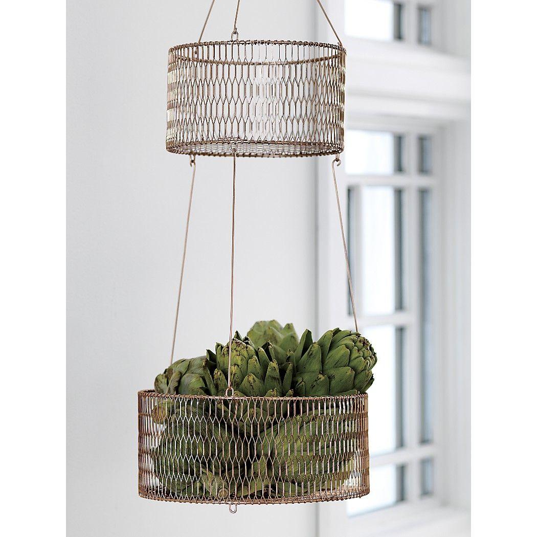 29 95 28 H Copper Two Tiered Hanging Baskets Decoracion Hogar Decoracion De Unas Deco