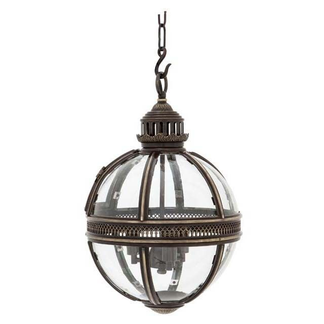 eichholtz owen lantern traditional pendant lighting. Gunmetal Hanging Pendant Lamp From Eichholtz. The Residential Lantern Comprises A Sleek, Finished Round Structure With Several Transparent Glass Eichholtz Owen Traditional Lighting H