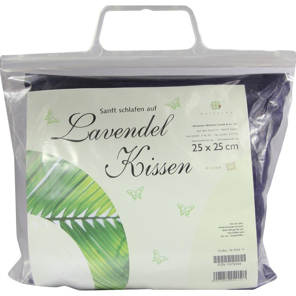 LAVENDEL KISSEN 25x25 cm:   Packungsinhalt: 1 St PZN: 07479394 Hersteller: Alexander Weltecke GmbH & Co KG Preis: 7,21 EUR inkl. 19 %…