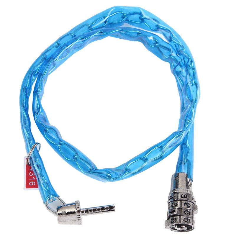 Cycling Security Cable 4-Digit Combination Password Bike Bicycle Steel Lock New