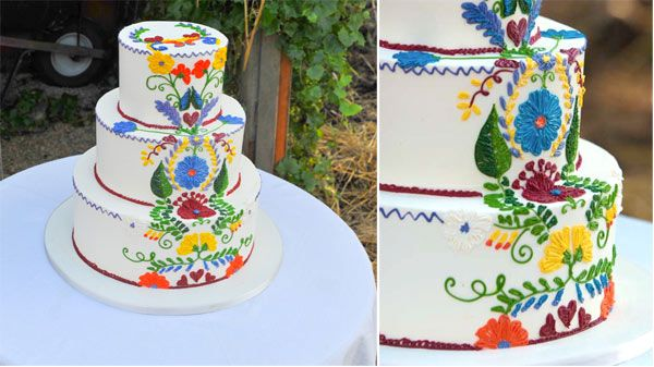 Admirable 7 Beautiful Spanish Themed Cakes With Images Mexican Wedding Funny Birthday Cards Online Inifodamsfinfo