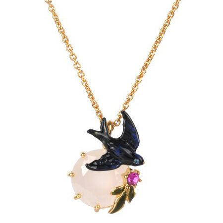 Find More Pendant Necklaces Information about enamel glaze crystal flying seallow gem pendant necklace for women elegant noble lady party jewelry,High Quality necklace cross pendant,China necklace initial Suppliers, Cheap pendant necklace gold from warmhome jewelry on Aliexpress.com