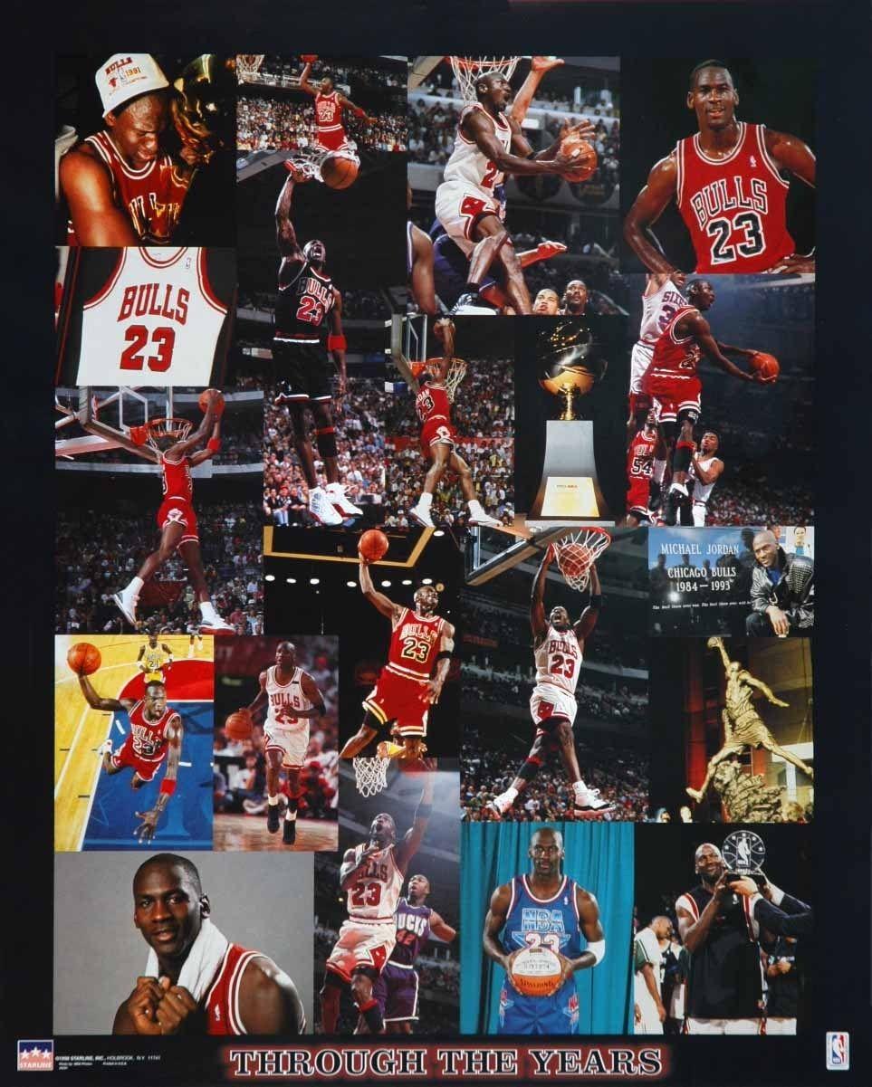 Michael Jordan Chicago Bulls Thru the Years 16x20 Starline