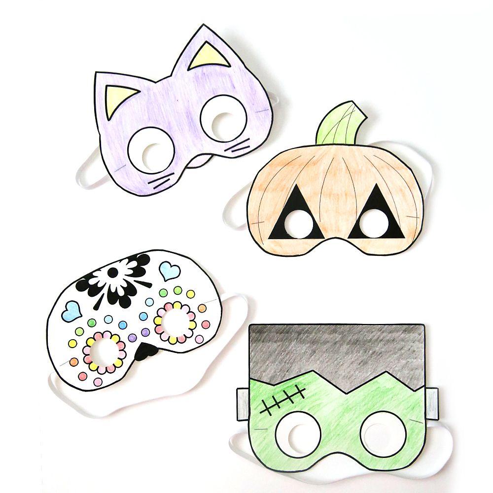 Halloween masks to print and color | Halloween masks, Diy mask and ...