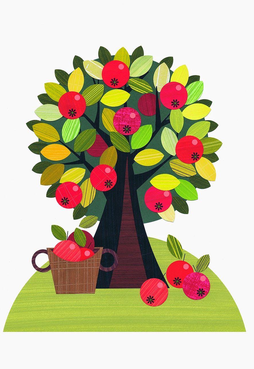 Ellen Giggenbach Farm Illustrations Apple Tree
