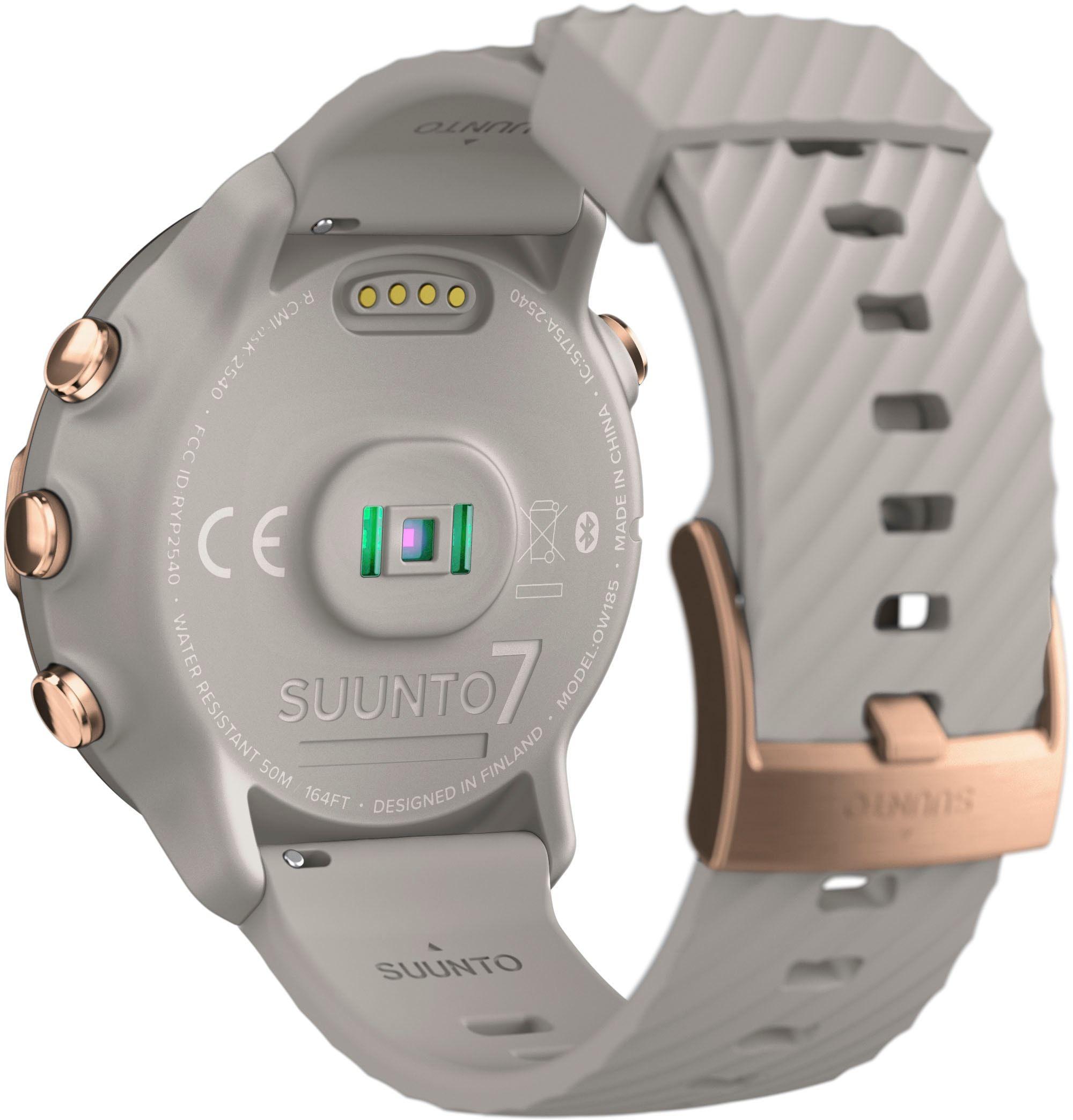 >>Farbe<< Farbe= sand, roségold, >>Bildschirm<< Bildschirmfarbe= farbig, Bildschirmtechnologie= AMOLED, Bildschirmbedienkomfort= Touch-Display, Bildschirmauflösung in Pixel= 454 x 454 px, Bildschirmhelligkeit= 1000 cd/m², >>Funktionen<< Sensoren= Herzfrequenzsensor, Kompass (Magnetometer), Schrittzähler, Sensorfunktionen= Herzfrequenzmessung, Schrittmessung, Benachrichtigungen= Anruf-Benachrichtigung, Benachrichtigungsart= per Vibration, Bedienelemente= Touch-Display, Bedienknopf, Multimediafunk