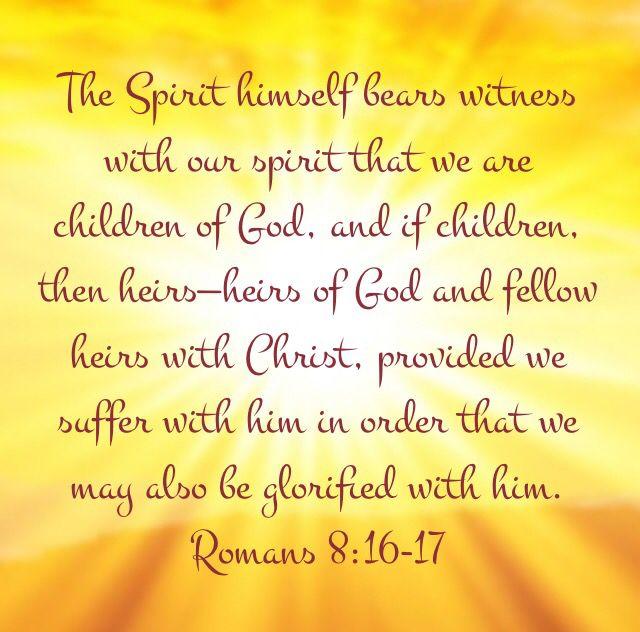 Image result for Romans 8:16-17 kjv
