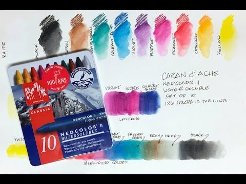 Caran D Ache Neocolor Ii Watercolor Crayon Https Www Youtube