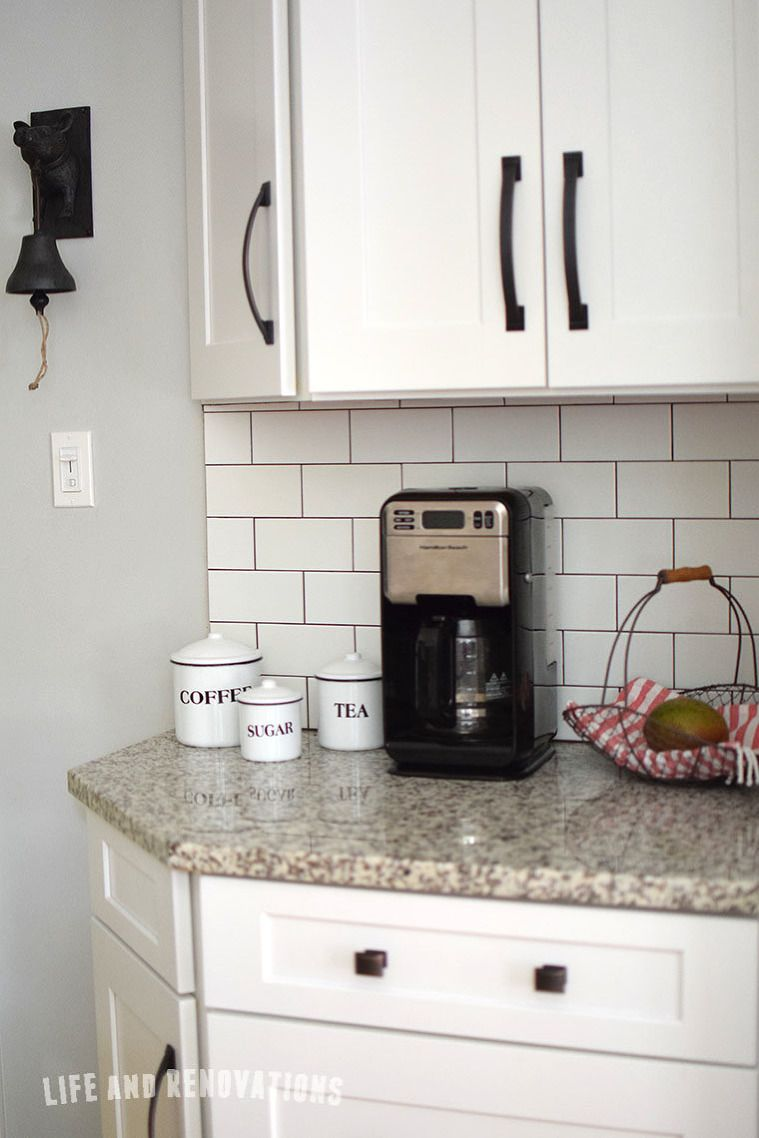 White subway tile with dark grout luna pearl granite real estate white subway tile with dark grout luna pearl granite dailygadgetfo Gallery