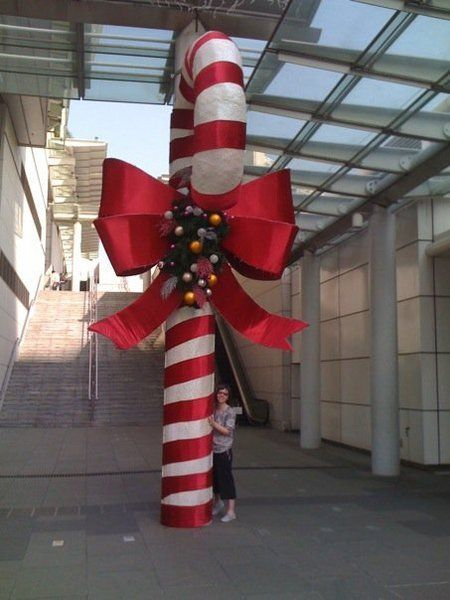 giant candy cane | Christmas yard decorations, Giant candy ...