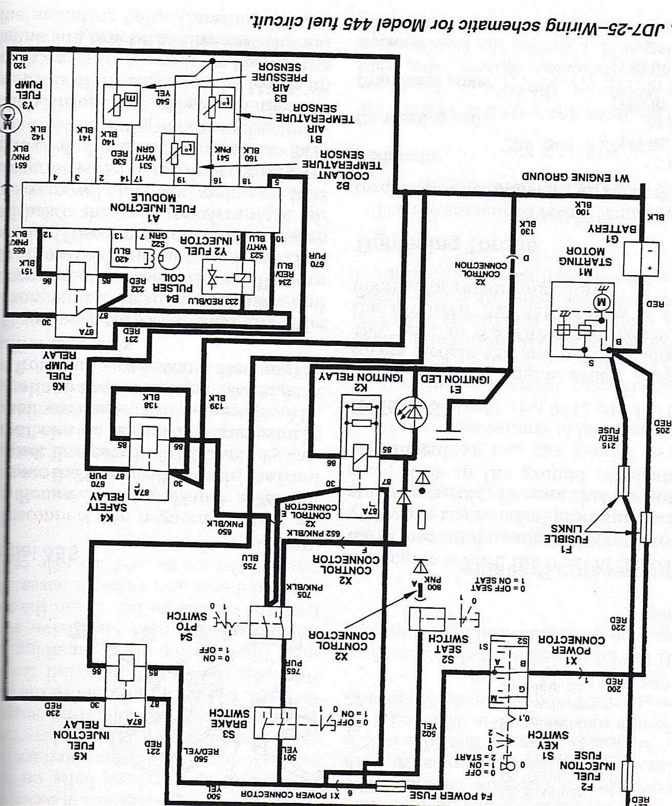 Wiring Diagrams For 757 John Deere 25 Hp Kawasaki Diagram -