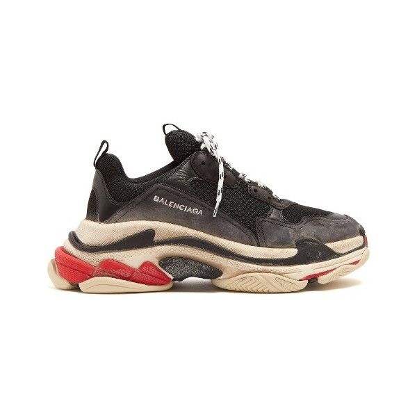 balenciaga triple s mens brown
