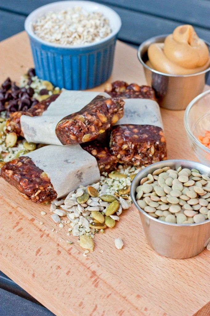 Homemade Gluten Free Lentil Energy Bars | Healthy sweets | Healthy