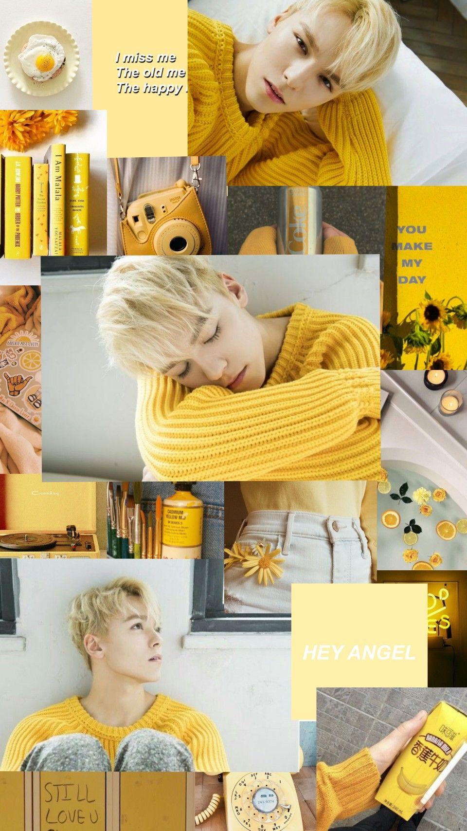 Seventeen Vernon Yellow Aesthetic Lockscreen In 2019