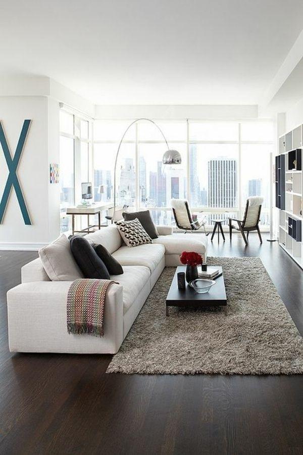 Tono monocromático Einrichtungsideen wohnzimmer möbel modern - möbel wohnzimmer modern