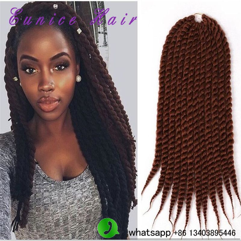 Braid Hair Extension Havana Mambo Twist Synthetic Crochet Senegalese Twists Braiding For Female