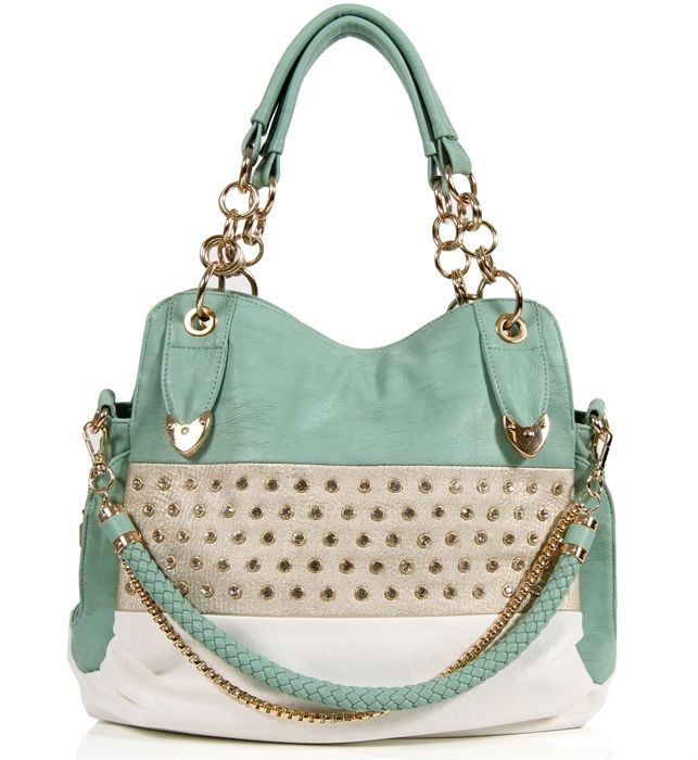 Pre-Order: Mint Rhinestone Handbag | Accessories | Pinterest ...