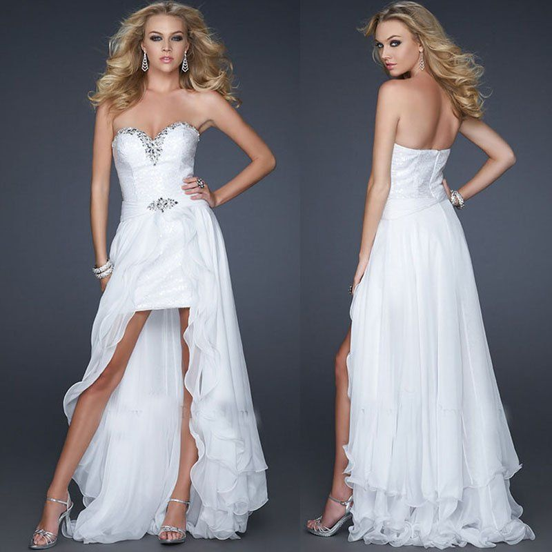 2 Piece Corset Wedding Dresses With Short Sleeves & Short